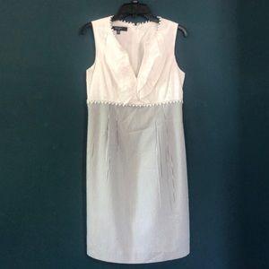 Nine West eyelet/seersucker dress, sz 10